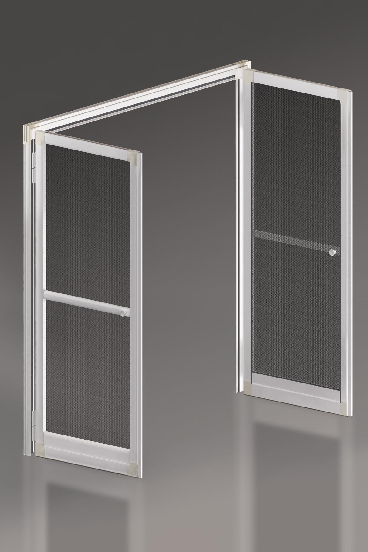 Porte moustiquaire 2 vantaux coloris blanc for Porte 2 vantaux
